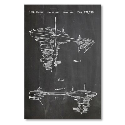 Americanflat 'Star Wars Rebel Space Vehicle' by House of Borders Graphic Art on Wrapped Canvas