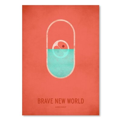 Americanflat Brave New World Graphic Art Wrapped on Canvas