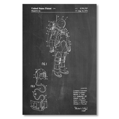 Americanflat 'Space Suit' by House of Borders Graphic Art on Wrapped Canvas