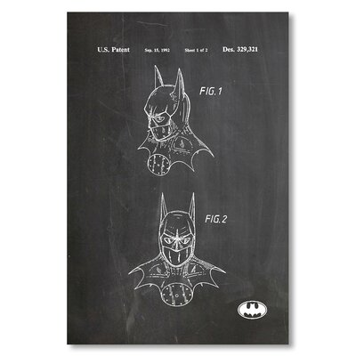 Americanflat 'Batman Mask' by House of Borders Graphic Art on Wrapped Canvas