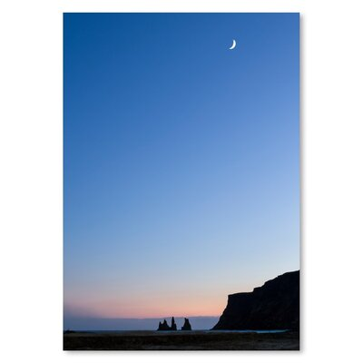 Americanflat Moon Photographic Print Wrapped on Canvas