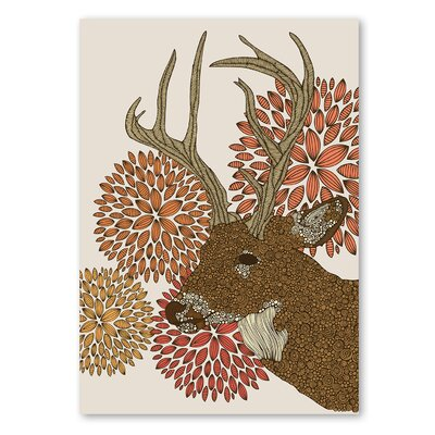 Americanflat 'Dear Deer' by Valentina Ramos Graphic Art on Wrapped Canvas