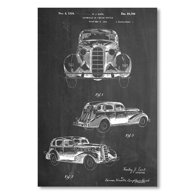 Americanflat 'Cadillac La Salle 1934' by House of Borders Graphic Art on Wrapped Canvas