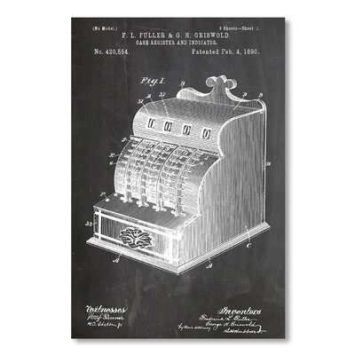 Americanflat 'Cash Register' by House of Borders Graphic Art on Wrapped Canvas