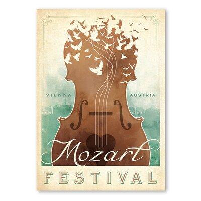 Americanflat 'Classical Music II' by Music Festival Vintage Advertisement on Wrapped Canvas