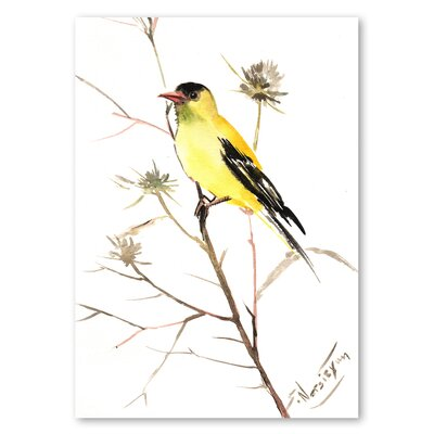 Americanflat 'Goldfinch V' by Suren Nersisyan Painting Print on Wrapped Canvas