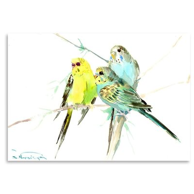 Americanflat 'Parakeets' by Suren Nersisyan Graphic Art on Wrapped Canvas