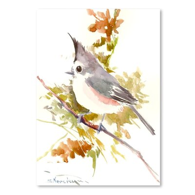 Americanflat Titmouse' by Suren Nersisyan Graphic Art Wrapped on Canvas