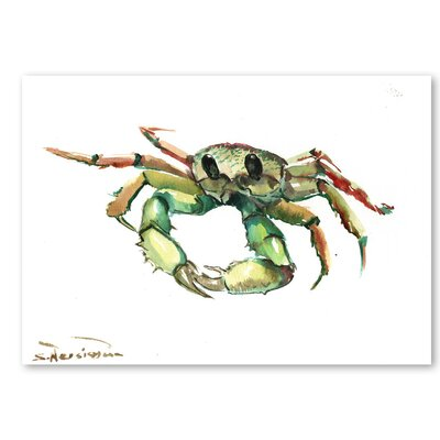 Americanflat 'Crab' by Suren Nersisyan Graphic Art on Wrapped Canvas in Green