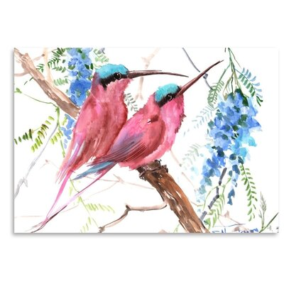 Americanflat 'Bee Eaters' by Suren Nersisyan Graphic Art on Wrapped Canvas
