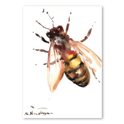 Americanflat 'Bee VII' by Suren Nersisyan Graphic Art on Wrapped Canvas