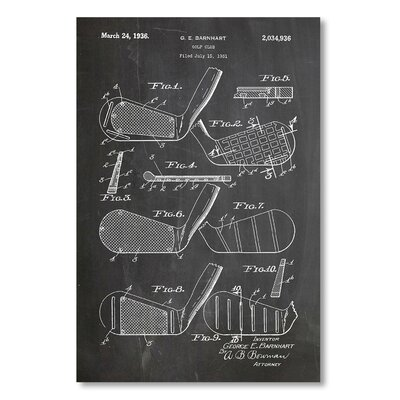 Americanflat 'Golf Clubs 1931' by House of Borders Graphic Art on Wrapped Canvas