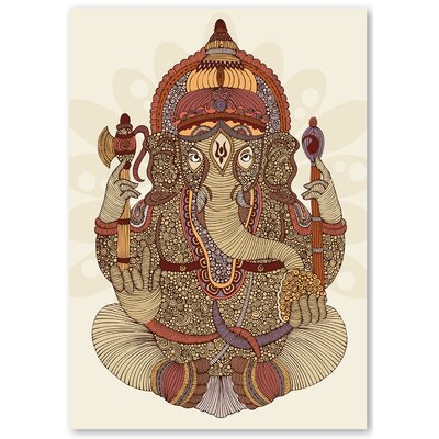 Americanflat 'Ganesha' by Valentina Ramos Graphic Art on Wrapped Canvas