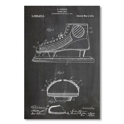 Americanflat 'Hockey Shoe' by House of Borders Graphic Art on Wrapped Canvas