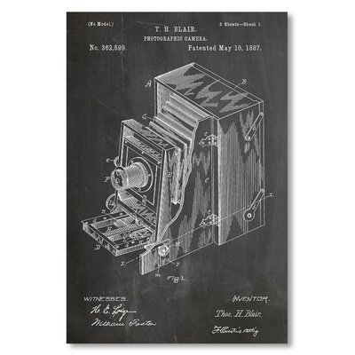 Americanflat 'Photographic Camera' by House of Borders Graphic Art Wrapped on Canvas