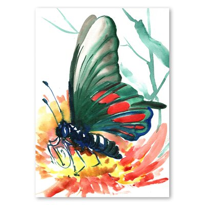 Americanflat 'Butterfly' by Suren Nersisyan Painting Print on Wrapped Canvas