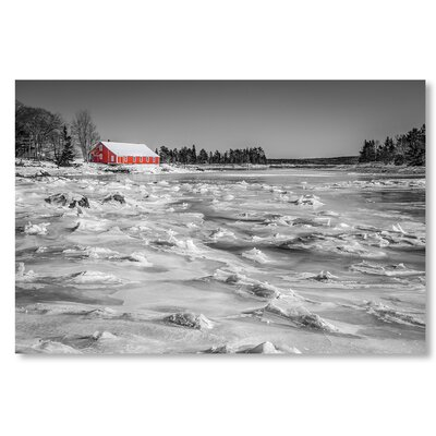 Americanflat 'Red House' by Lina Kremsdorf Photographic Print on Wrapped Canvas