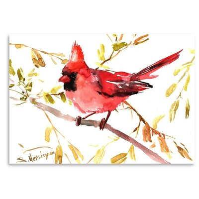 Americanflat 'Northern Cardinal' by Suren Nersisyan Painting Print on Wrapped Canvas