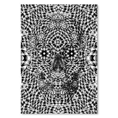 Americanflat Skull VII Graphic Art on Wrapped Canvas