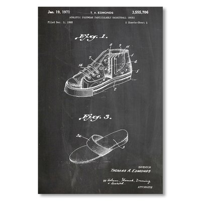 Americanflat 'Chuck Taylor Shoes' by House of Borders Graphic Art Wrapped on Canvas
