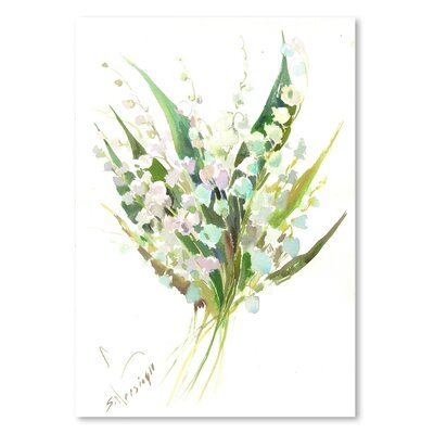 Americanflat 'Lilies of the Valley' by Suren Nersisyan Painting Print on Wrapped Canvas