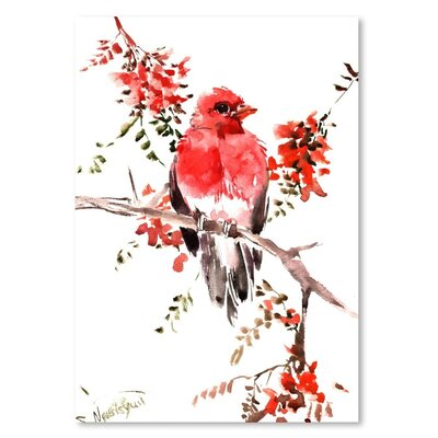Americanflat 'Rosefinch' by Suren Nersisyan Painting Print on Wrapped Canvas