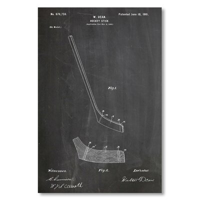 Americanflat 'Hockey Stick' by House of Borders Graphic Art Wrapped on Canvas