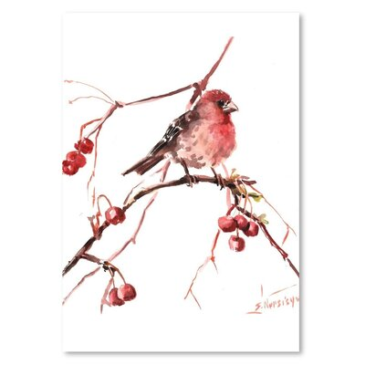 Americanflat 'Rosefinch 2' by Suren Nersisyan Art Print Wrapped on Canvas