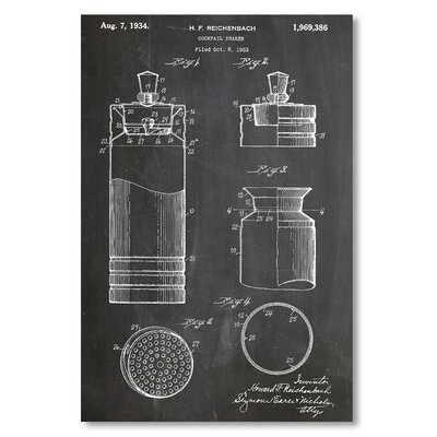 Americanflat 'Cocktail Shaker' by House of Borders Graphic Art Wrapped on Canvas