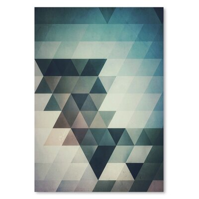Americanflat Lyrnyng Cyrve Graphic Art on Wrapped Canvas