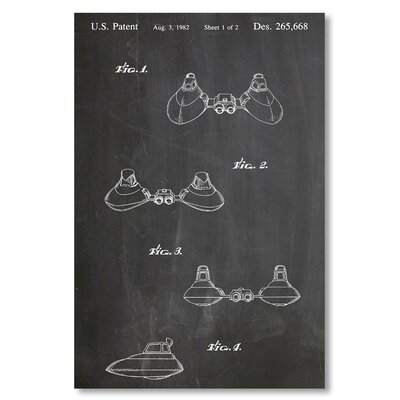 Americanflat 'Star Wars Cloud Car' by House of Borders Graphic Art on Wrapped Canvas