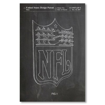 Americanflat 'NFL' by House of Borders Graphic Art Wrapped on Canvas