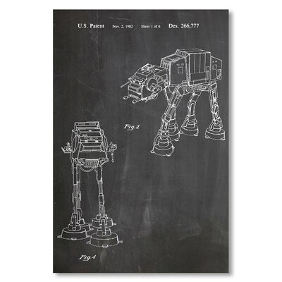 Americanflat 'Empire Strikes Back Vehicle' by House of Borders Graphic Art Wrapped on Canvas