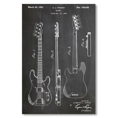 Americanflat 'Fender Bass Guitar' by House of Borders Graphic Art on Wrapped Canvas