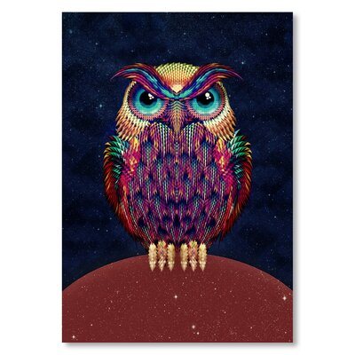 Americanflat 'Owl 2 B Copy S' by Ali Gulec Graphic Art on Wrapped Canvas