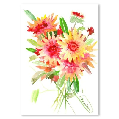 Americanflat 'Blanket Flowers' by Suren Nersisyan Art Print Wrapped on Canvas
