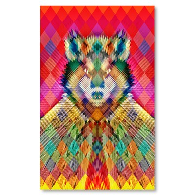Americanflat 'Corp Wolf Hi' by Ali Gulec Graphic Art on Wrapped Canvas