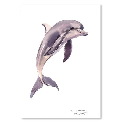 Americanflat 'Dolphin' by Suren Nersisyan Painting Print on Wrapped Canvas