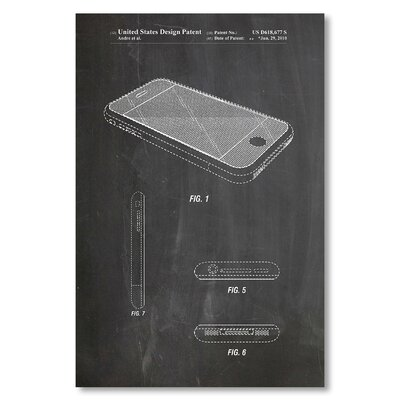 Americanflat 'Iphone' by House of Borders Graphic Art on Wrapped Canvas