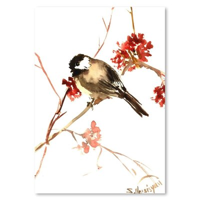 Americanflat 'Chickadee 11' by Suren Nersisyan Painting Print on Wrapped Canvas