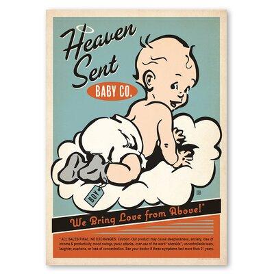 Americanflat Heaven Sent Boy Vintage Advertisement on Wrapped Canvas