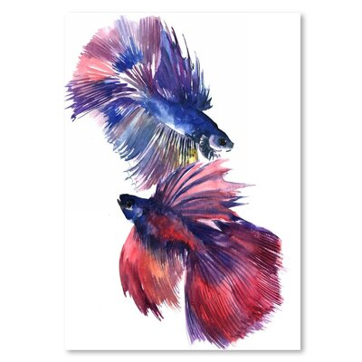 Americanflat Beta Fish 2 Art Print Wrapped on Canvas