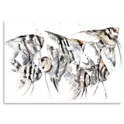 Americanflat Angelfish Painting Print on Wrapped Canvas
