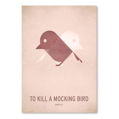 Americanflat To Kill a Mocking Bird_Minimal Graphic Art on Wrapped Canvas