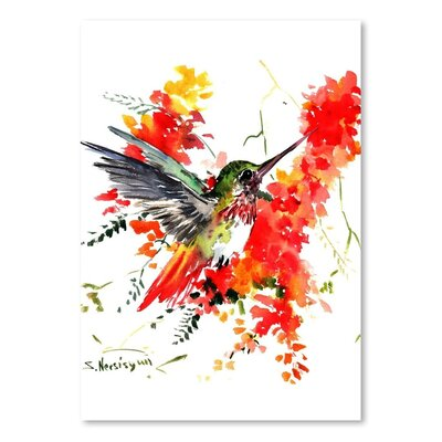 Americanflat Hummingbird 18' by Suren Nersisyan Graphic Art Wrapped on Canvas
