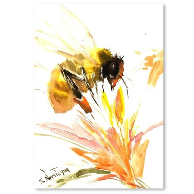 Americanflat 'Bee' by Suren Nersisyan Graphic Art on Wrapped Canvas