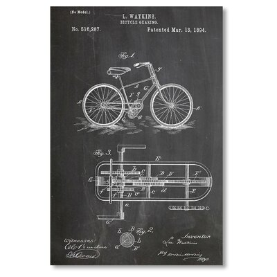 Americanflat 'Bicycle Gear' by House of Borders Graphic Art on Wrapped Canvas