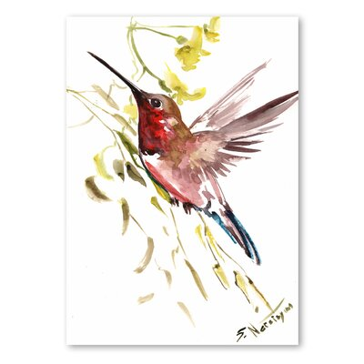 Americanflat 'Hummingbird 2' by Suren Nersisyan Graphic Art on Wrapped Canvas