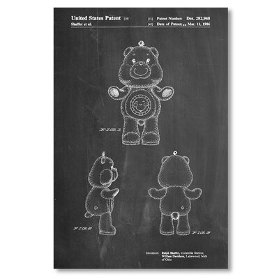Americanflat 'Sunshine Care Bear' by House of Borders Graphic Art on Wrapped Canvas