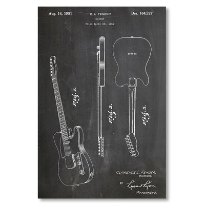 Americanflat 'Fender Guitar' by House of Borders Graphic Art on Wrapped Canvas